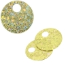 Sequins Hologram 20mm 4mm Hole Round Yellow